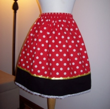 Custom Minnie Mouse inspired skirt